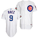 Chicago Cubs Javier Baez Home Authentic Cool Base Jersey w/ Patch