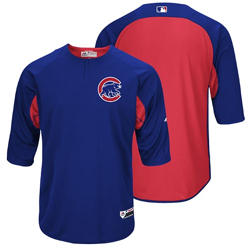 86a0e57e Chicago Cubs Authentic Collection On-Field Batting Practice Trainer Cool  Base Pullover Jacket