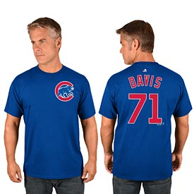 Chicago Cubs Wade Davis Name and Number T-Shirt
