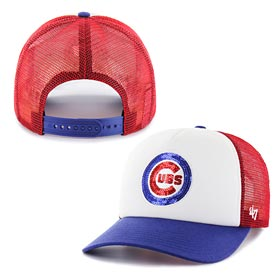 9b12b963566298 Chicago Cubs Ladies Glimmer Captain Trucker Snapback Adjustable Cap