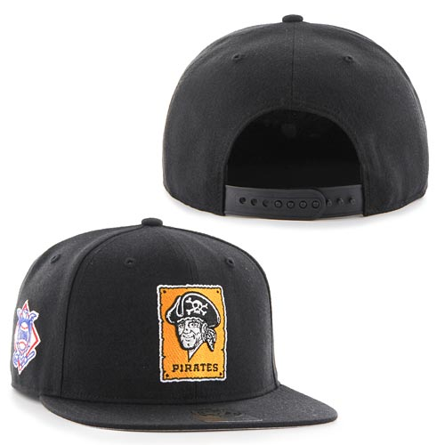 Pittsburgh Pirates Sure Shot Accent Captain Snapback Adjustable Cap 8e19eda4ce8