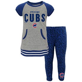 Chicago Cubs Preschool Girls Shirt and Leggings Set