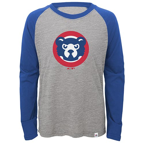 9c930438070 Chicago Cubs Youth Two to One Cooperstown Raglan T-Shirt