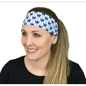 Chicago Cubs W Flag Repeat Stretch Head Band