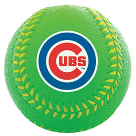 Chicago Cubs Green ProBrite Rubber Training Baseball