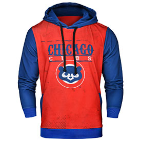 Chicago Cubs Retro Logo Polyester Hooded Sweatshirt