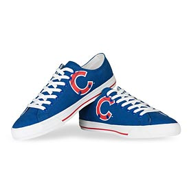 Chicago Cubs Logo Canvas Victory Shoes