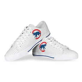 Chicago Cubs Walking Bear Logo Canvas Victory Shoes
