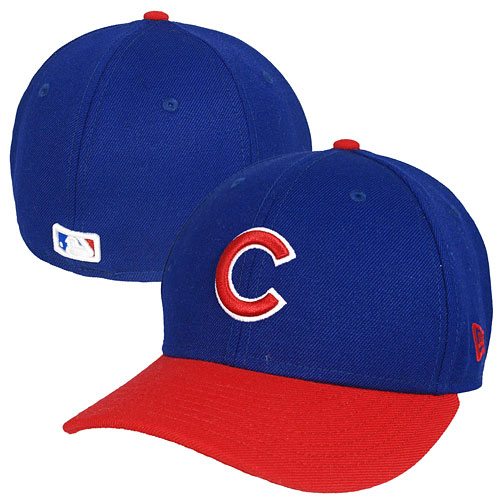 Chicago Cubs Royal and Red Low Crown 59FIFTY Fitted Cap ecfc2d4da4c