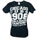Chicago Cubs Ladies Vintage World Series Tri-Blend T-Shirt