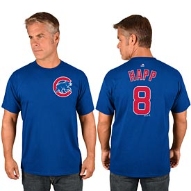 Chicago Cubs Ian Happ Name and Number T-Shirt