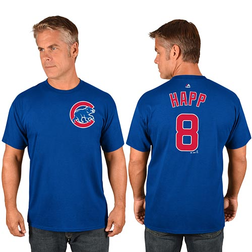 best service 0d725 fbcf4 Chicago Cubs Ian Happ Name and Number T-Shirt