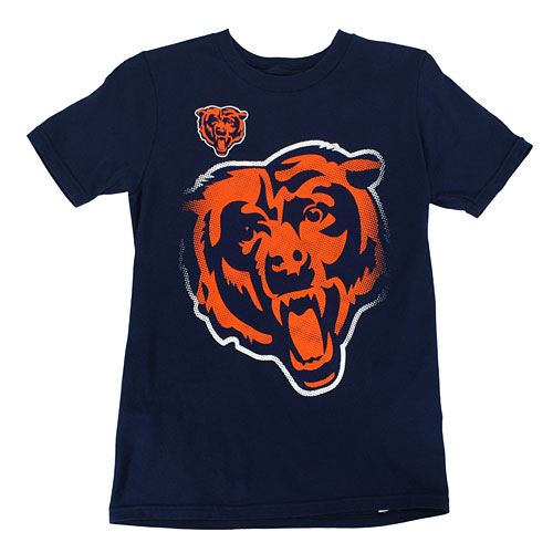 Chicago Bears Youth Tight Spiral T Shirt