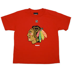 Chicago Blackhawks Youth Red Primary Logo T-Shirt