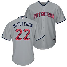 Pittsburgh Pirates Andrew McCutchen 2017 Stars and Stripes Cool Base Replica Jersey