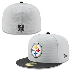 Pittsburgh Steelers Gray Sideline 59FIFTY Fitted Cap