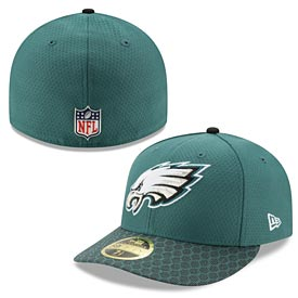Philadelphia Eagles 2017 Sideline Official Low Profile 59FIFTY Fitted Cap