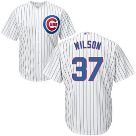 Chicago Cubs Justin Wilson Home Cool Base Replica Jersey