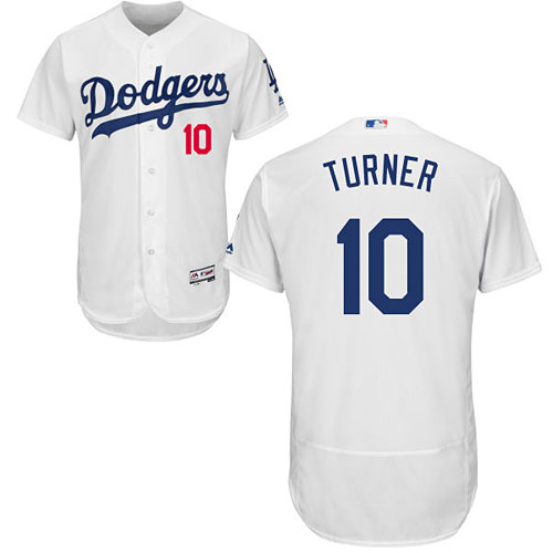 Los Angeles Dodgers Justin Turner Home Flexbase Authentic Collection Jersey 37e2bc5406b
