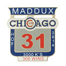 Chicago Cubs Greg Maddux Hall of Fame Collectible Souvenir Pin