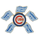 Chicago Cubs Retired Number Flags Souvenir Pin