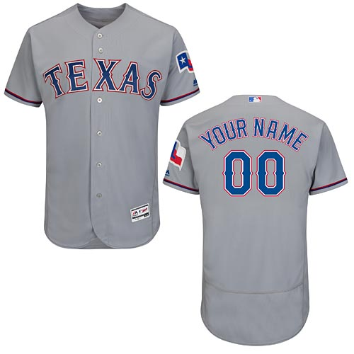 Texas Rangers Customized Road Flexbase Authentic Collection Jersey 152735d9b33e