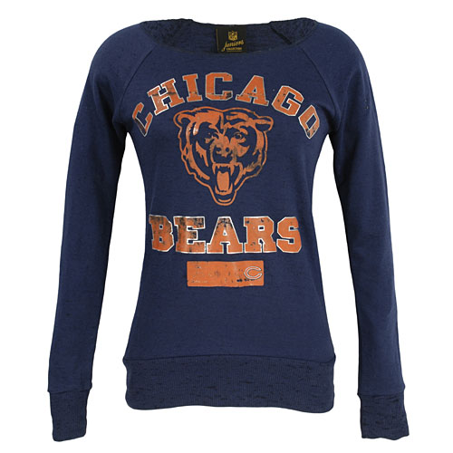 55443cc7 Chicago Bears Ladies Open Neck Lightweight Pullover