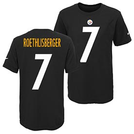 Pittsburgh Steelers Ben Roethlisberger Youth Player Pride T-Shirt