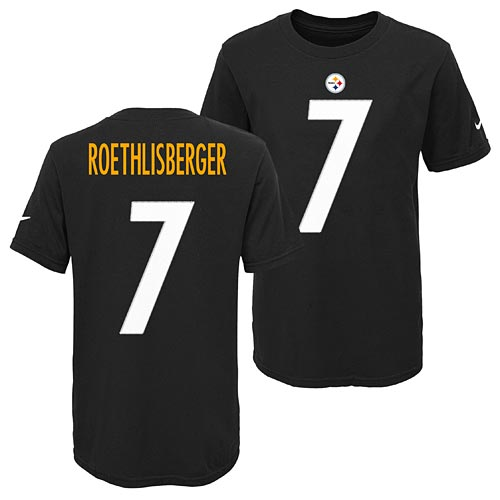 pretty nice a6828 4ce24 Pittsburgh Steelers Ben Roethlisberger Youth Player Pride T-Shirt