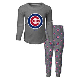 Chicago Cubs Preschool Long Sleeve T-Shirt and Pants Sleep Set