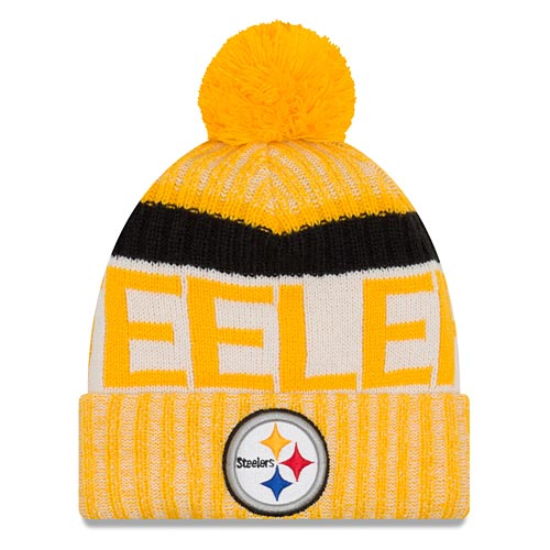 Pittsburgh Steelers Youth 2017 Sideline Reverse Team Cold Weather Sport  Knit Hat 06fdca951