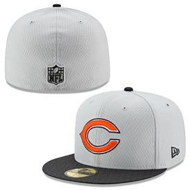 Chicago Bears Gray Sideline 59FIFTY Fitted Cap