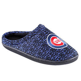 Chicago Cubs Mens Poly Knit Slide Slippers