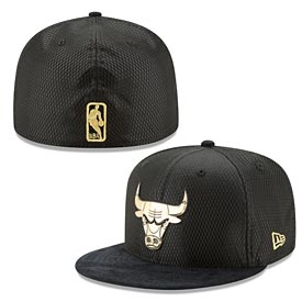 Chicago Bulls Gold On Court 59FIFTY Fitted Cap