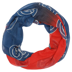 Chicago Cubs Ladies Repeat Logo Infinity Scarf