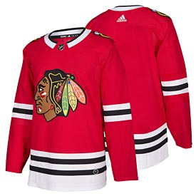 Chicago Blackhawks adidas Home Authentic Blank Jersey