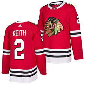 Chicago Blackhawks Duncan Keith adidas Home Authentic Jersey