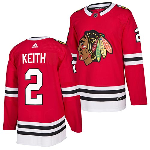 Chicago Blackhawks Duncan Keith adidas Home Authentic Jersey a34e469a860