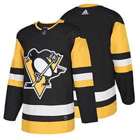 Pittsburgh Penguins adidas Home Authentic Blank Jersey