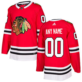 Chicago Blackhawks adidas Customized Home Authentic Jersey