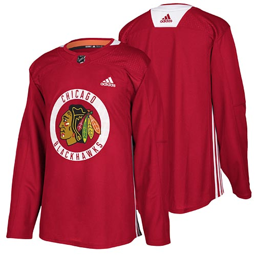 detailing a4331 09152 Chicago Blackhawks adidas Authentic Home Practice Jersey