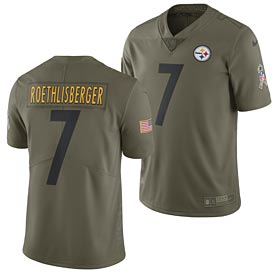 Pittsburgh Steelers Ben Roethlisberger 2017 Nike Olive Salute to Service Limited Jersey