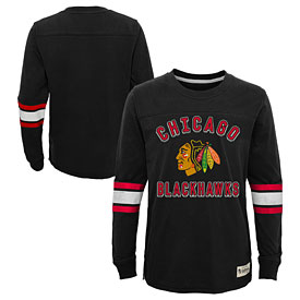 Chicago Blackhawks Youth Historical Long Sleeve T-Shirt