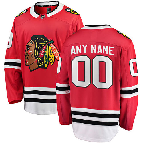 Chicago Blackhawks Customized Home Breakaway Jersey w  Authentic Lettering d1f6faf5b