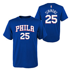 Philadelphia 76ers Ben Simmons Youth Name and Number T-Shirt