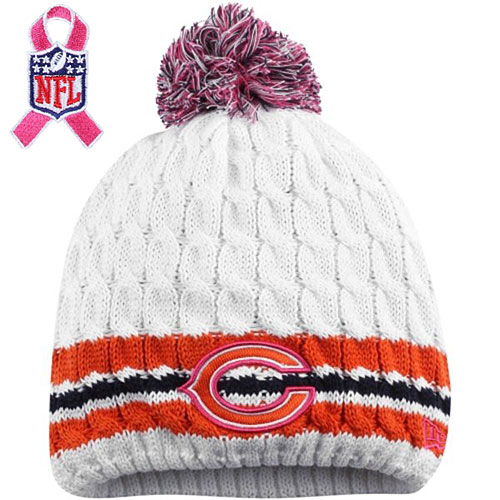 5001d7a4c Chicago Bears Ladies Breast Cancer Awareness Knit Hat. Hover to magnify  image. CLOSE  X . Zoomed Image