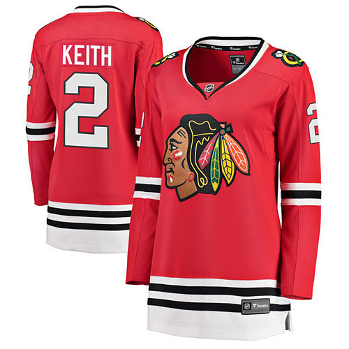 Chicago Blackhawks Duncan Keith Ladies Home Breakaway Jersey w  Authentic  Lettering 1a2d5a705b8