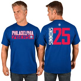 Philadelphia 76ers Ben Simmons Vertical Name and Number T-Shirt