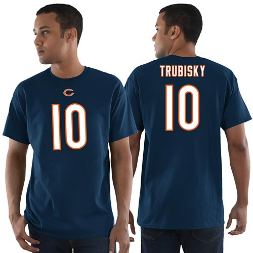 hot sale online ef989 cc1e2 Chicago Bears Mitchell Trubisky Eligible Receiver Name and Number T-Shirt