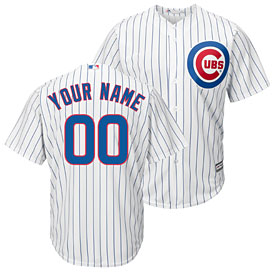 098994f075e Chicago Cubs Customized Home Replica Cool Base Jersey
